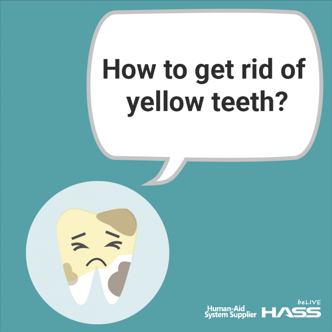 [Dental News] How to get rid of yellow teeth?